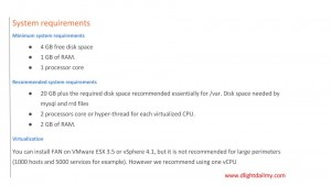 fan nagios system requirements